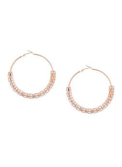 Half Mesh Hoop Earrings - 1135062922591