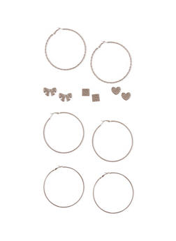 Assorted Loop and Stud Earring Set - 1135062923410