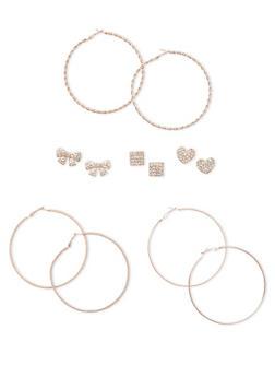 Assorted Loop and Stud Earring Set - 1135062923410