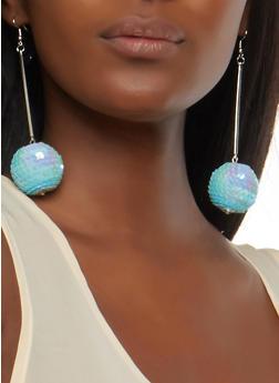 Sequin Ball Drop Earrings - 1135062923864