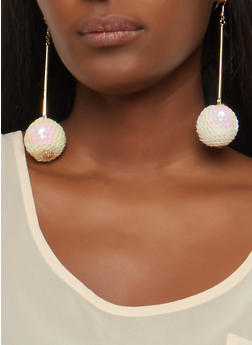 Sequin Ball Drop Earrings - 1135062923864