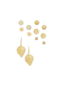 Assorted Stud and Drop Earrings Set - 1135062925383