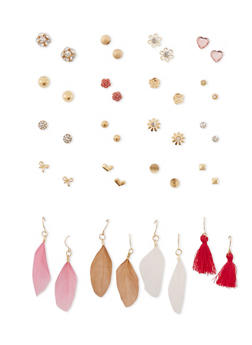 20 Piece Set of Assorted Drop and Stud Earrings - 1135062926462
