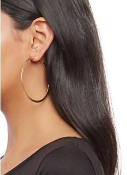 Set of 3 Hoop Earrings - 1135062927551