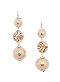 Rhinestone Beaded Drop Earrings - 1135062927597