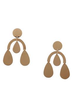 Geometric Chandelier Earrings - 1135062928229