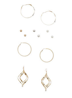 Set of 6 Assorted Earrings - 1135062928517