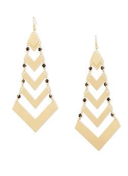 Chevron French Wire Earrings - 1135062929345