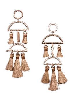 Geometric Tassel Earrings - 1135067252966