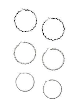 Trio of Wrap Hoop Earrings - 1135072694918