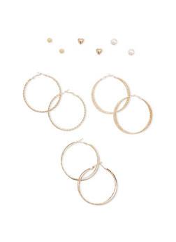 Set of 6 Assorted Earring Set - 1135072696432