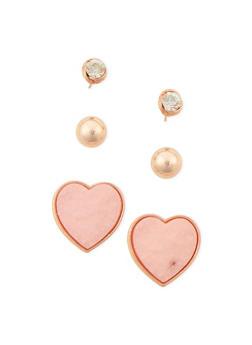 Trio Stud Earrings Set - 1135072696630