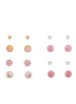 Set of 4 Reversible Stud Earrings - 1135072697208