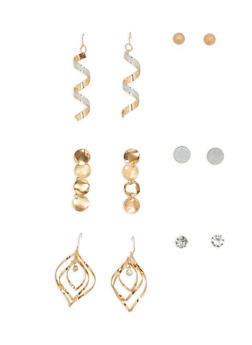 Glitter Assorted Earrings Set - 1135073848251