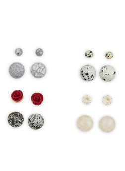 Set of 4 Reversible Stud Earrings - 1135073848545