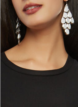 Set of 6 Assorted Glitter Rhinestone Earrings - 1135073848560