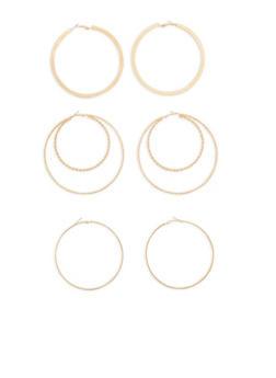 Large Hoop Earring Trio - 1135073848584