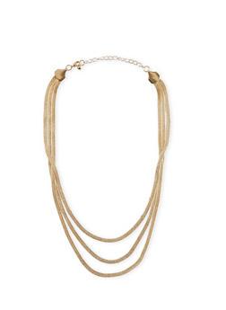 Tiered Metallic Brazillian Chain Necklace - 1138003201122