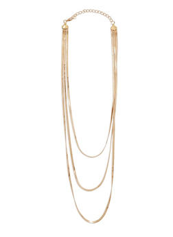 Layered Flat Metallic Necklace - 1138003202280