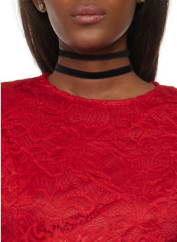 Set of 3 Tattoo Choker Necklaces - 1138058564270