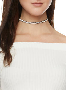 Trio Choker Set with Ribbon and Faux Suede - 1138062814195