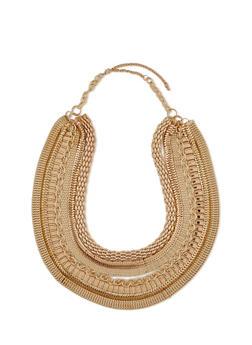 7 Layer Multi Chain Bib Necklace - 1138062924784