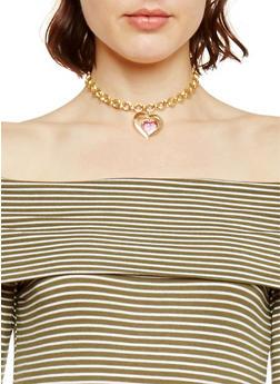 2 Piece Braided Heart Chain Set - 1138062924847