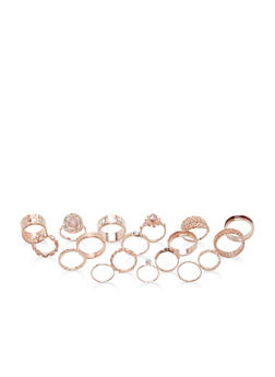 Assorted Metallic Ring Set - 1138062926515