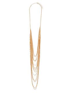 Layered Rhinestone Chain Necklace - 1138062927923