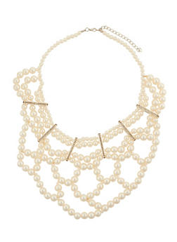 Pearl Bib Necklace - 1138072694508