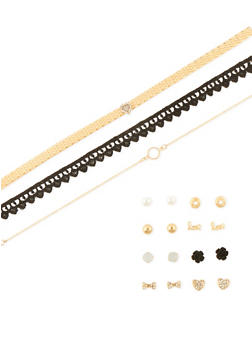 Assorted Choker and Earring Set - 1138072694674