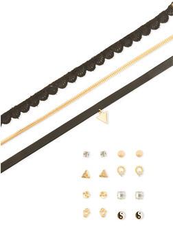7 Piece Choker and Stud Earrings Set - 1138072694675