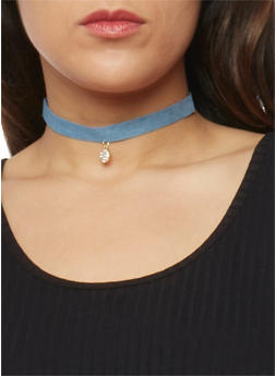 Set of 3 Assorted Charm Choker Necklaces - 1138072695203