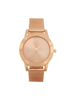 Metal Mesh Strap Watch - ROSE - 1140071430184