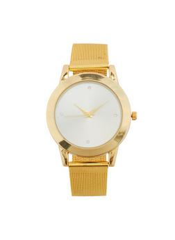 Metal Mesh Strap Watch - 1140071430184