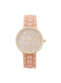 Roman Numeral Marble Face Watch - 1140071431327