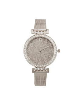 Glitter Face Metallic Mesh Watch - 1140071431847