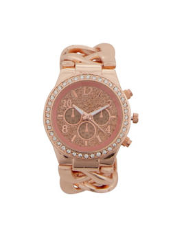 Glitter Face Chain Watch - 1140071432075