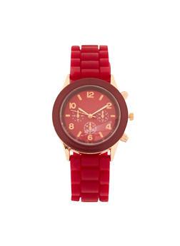 Colored Silicone Strap Watch - 1140071432485