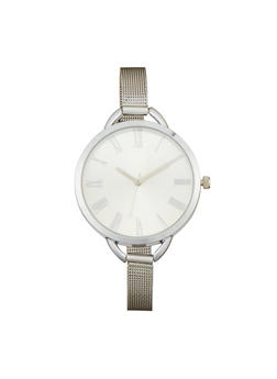 Thin Metal Mesh Strap Watch - 1140071432515