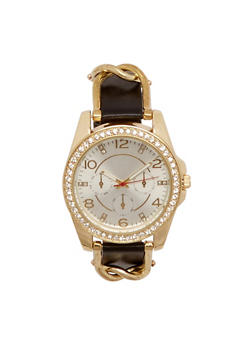 Watch with Studs and Chainlink Trim - 1140071432520