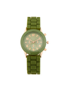 Rubber Strap Watch - 1140071432533