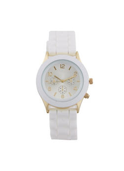 Watch with Rubber Wrist Band with Chronograph - 1140071432548