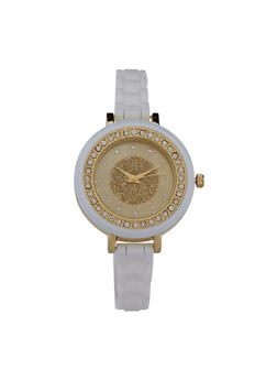 Thin Woven Rubber Strap Watch - 1140071432916