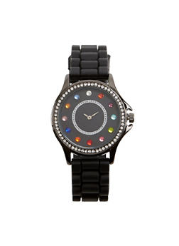 Rhinestone Face Watch - 1140071432925