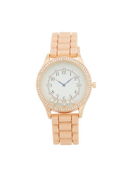 Floating Rhinestone Watch - BLUSH - 1140071432929