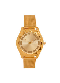 Metallic Mesh Strap Watch - 1140071433001