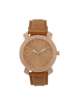 Crystal Bezel Watch - 1140071433010