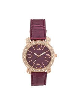 Crystal Bezel Watch - PURPLE - 1140071433010