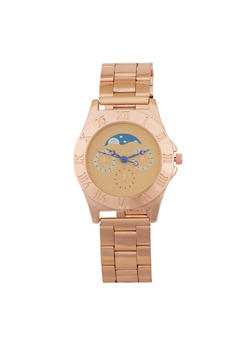 Moon Face Metallic Watch - 1140071435001